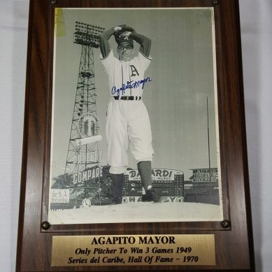 Agapito Mayor Hall of Fame Plaque