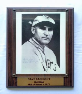 Dave Bancroft Hall Of Fame Plaque 1971
