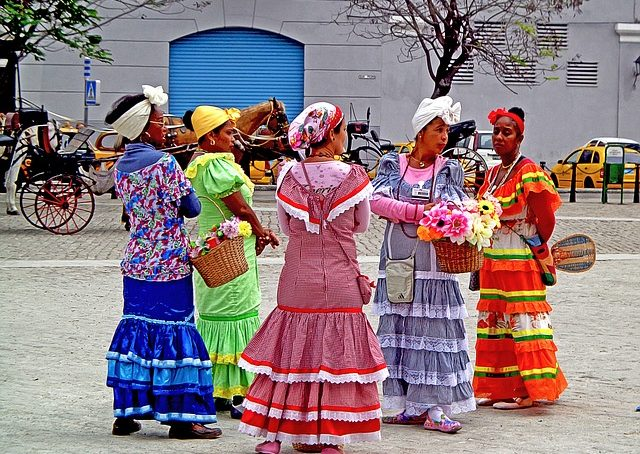 Fashionable Cuba History Cuban Dress Style Salsa Dancer Costume