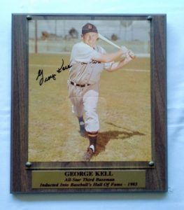 George Kell Hall Of Fame Plaque